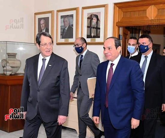 الرئيس السيسى فى قبرص واليونان (1)