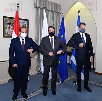 الرئيس السيسى فى قبرص واليونان (2)