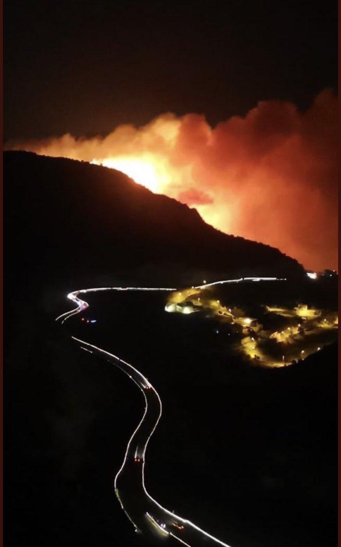 حريق ضخم في غابات جبل غلامة (2)