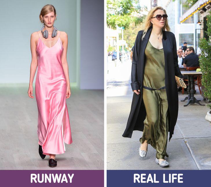 الفستان الحرير