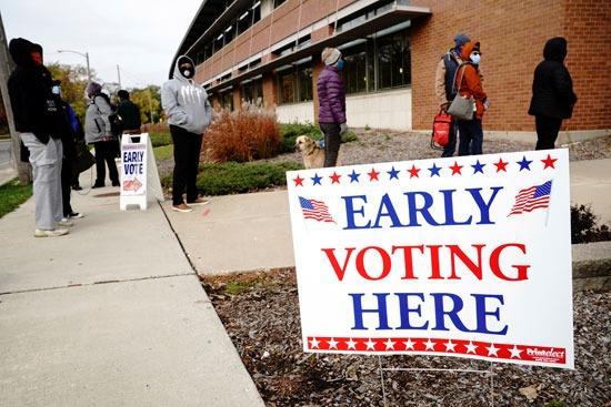 طوابير التصويت