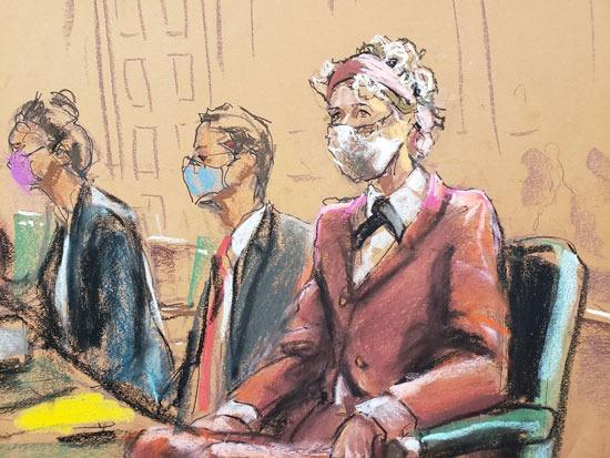رسم تخيلي للمحاكمة