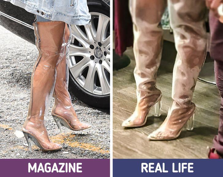 الحذاء البلاستيك