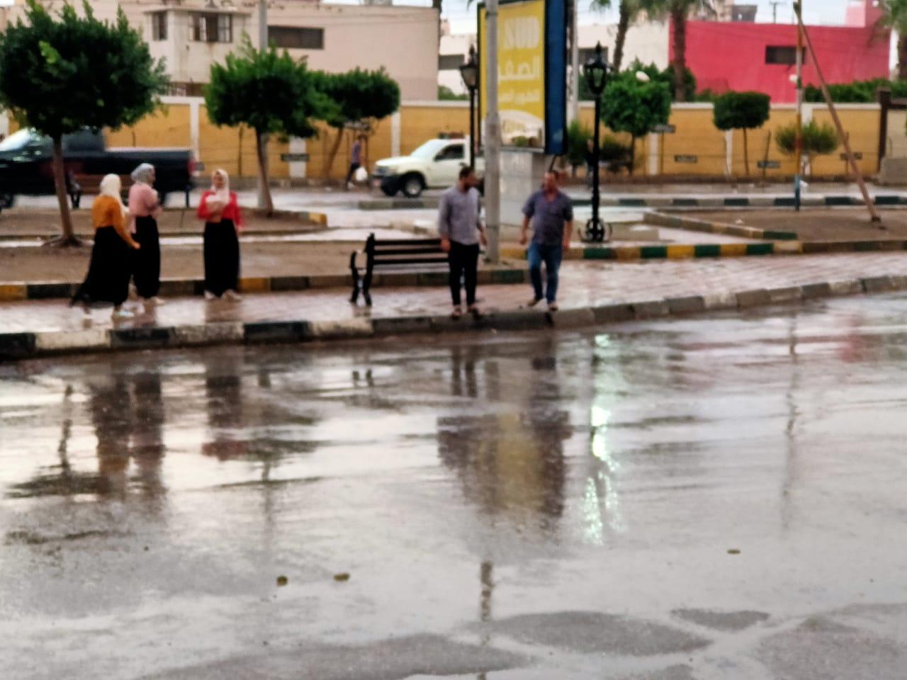 هطول أمطار غزيرة على محافظة الدقهلية (1)