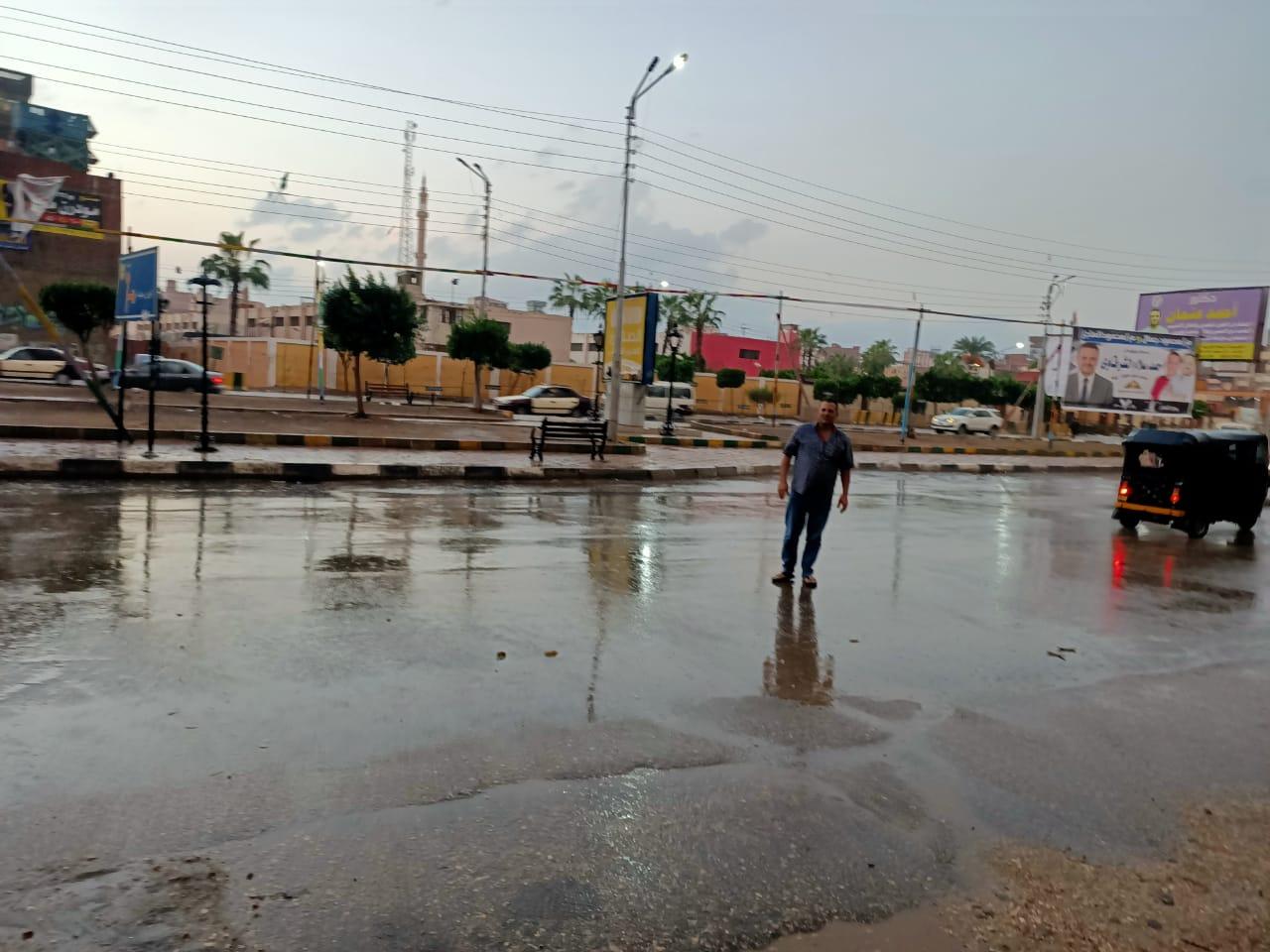 هطول أمطار غزيرة على محافظة الدقهلية (2)