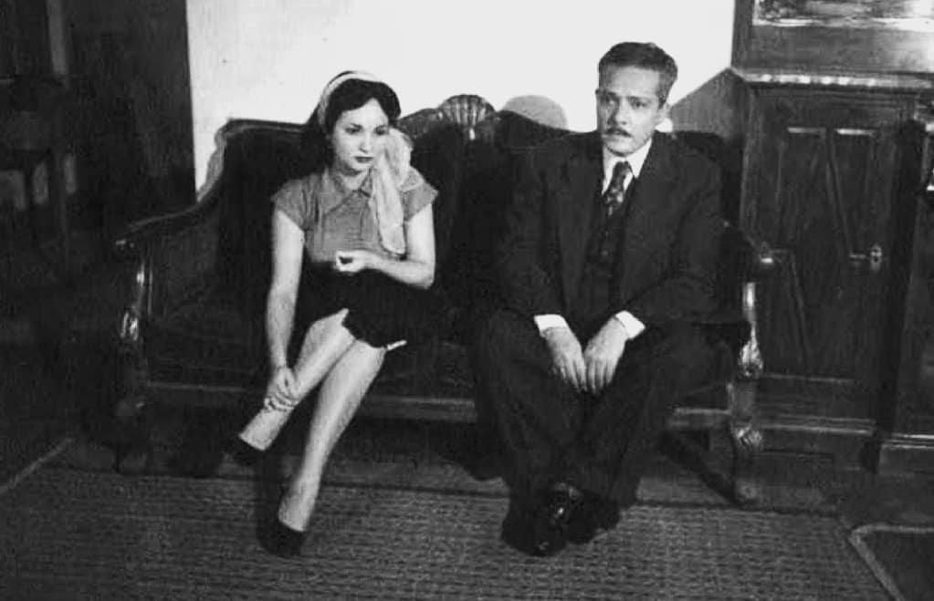 شادية مع والدها