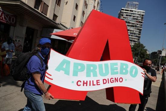 مظاهرات تأييد للاستفتاء على الدستور فى تشيلى (2)