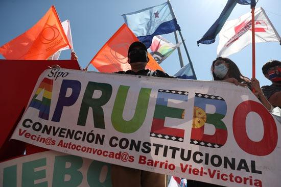 مظاهرات تأييد للاستفتاء على الدستور فى تشيلى (3)