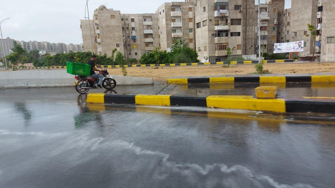 هطول أمطار غزيرة وسط الإسكندرية  (5)