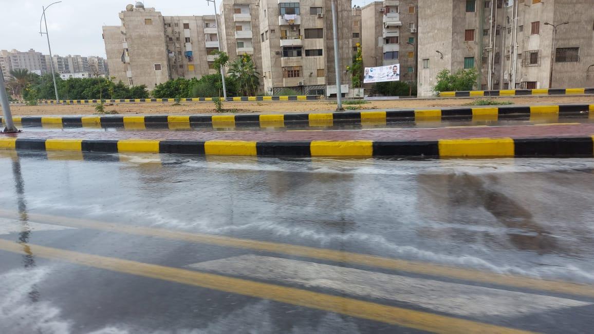 هطول أمطار غزيرة وسط الإسكندرية  (6)