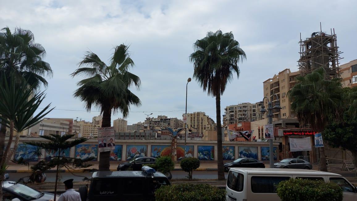 هطول أمطار خفيفة ومتوسطة شرق الاسكندرية  (4)