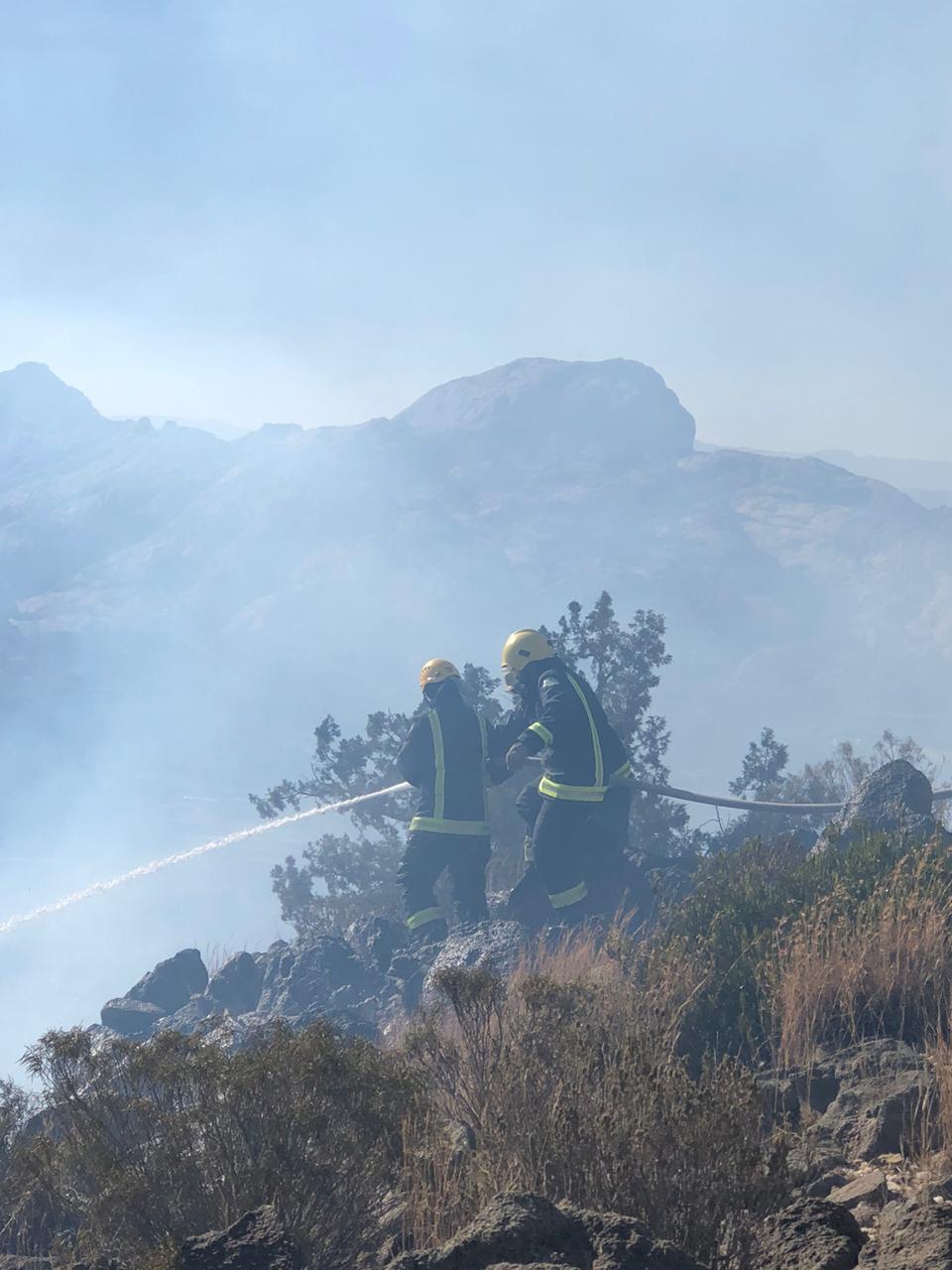 جهود مكافحة الحريق
