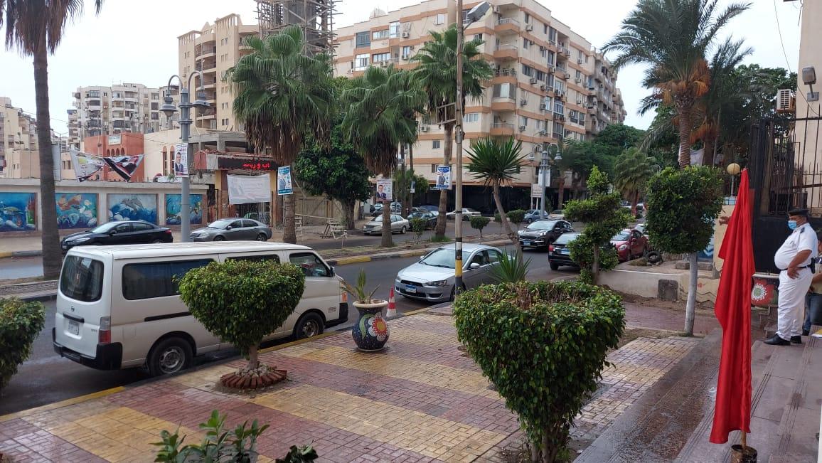 هطول أمطار خفيفة ومتوسطة شرق الاسكندرية  (2)
