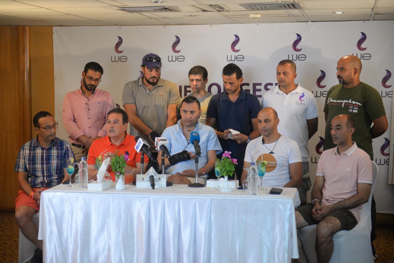 مؤتمر صحفي لطبيب الربان ولاء حافظ