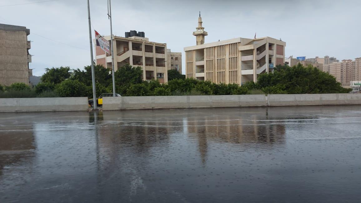 هطول أمطار غزيرة وسط الإسكندرية  (8)