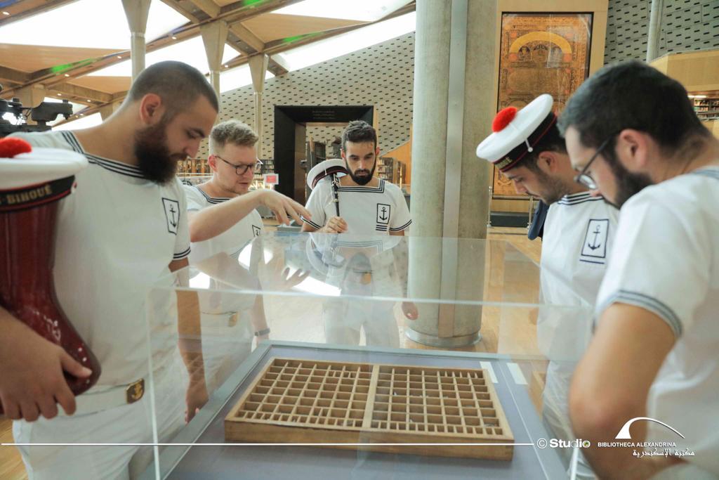 عروض لفرقة الموسيقى العسكرية للبحرية الفرنسية بمكتبة الإسكندرية (3)