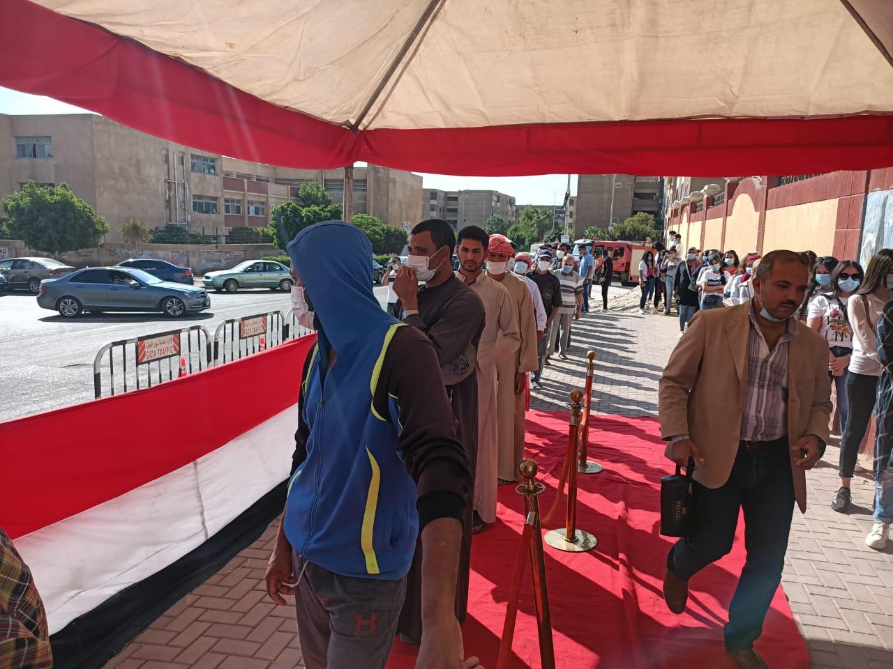 مشاركة الشباب في انتخابات مجلس النواب بالشيخ زايد