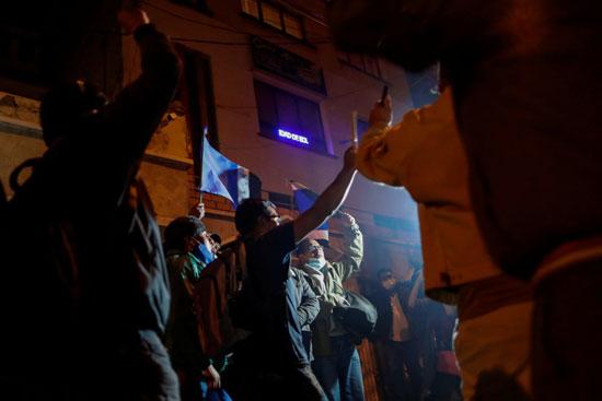 مظاهرات تأييد عقب الاعلان عن فوز الرئيس الجديد