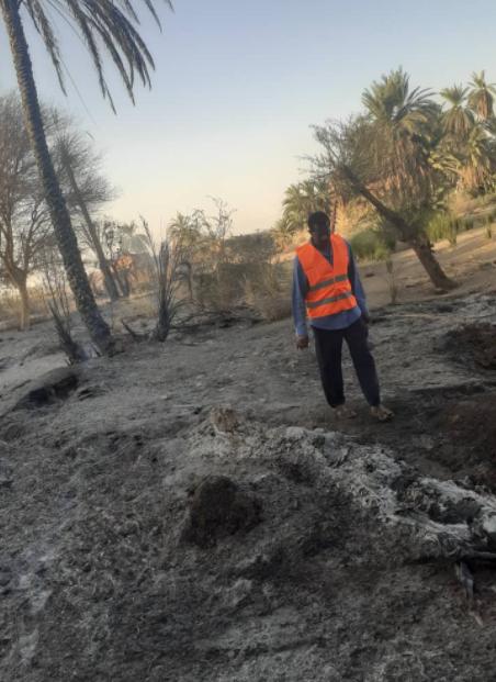 حرائق السودان
