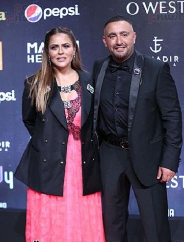 أحمد السقا وزوجته الإعلامية مها الصغير