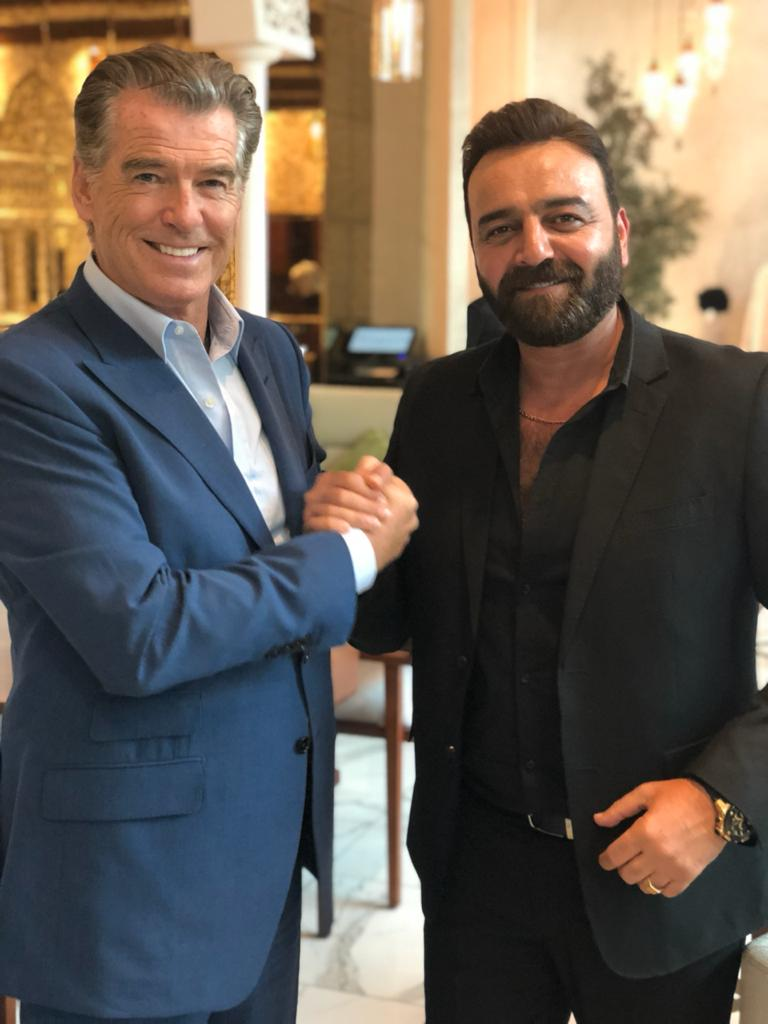 Samer Al-Masry with Brosnan