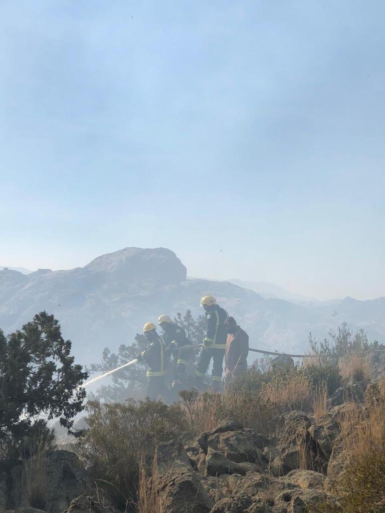 حريق جبل تنومه