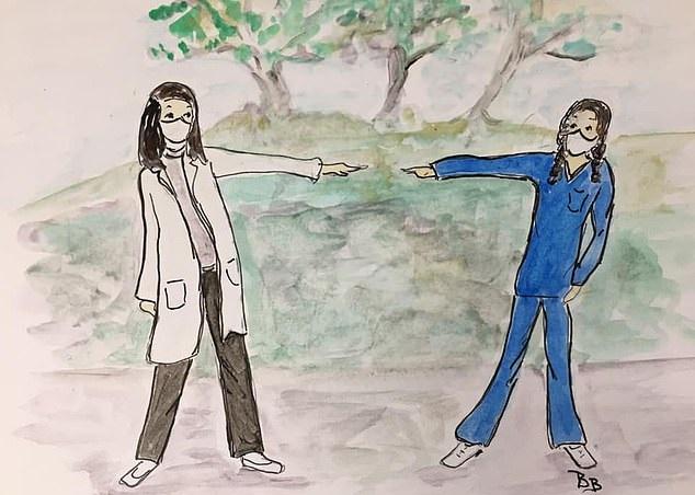 عجوز ناجية من كورونا ترسم لوحات لبث الأمل والفرح بالألوان المائية.. صور  (8)