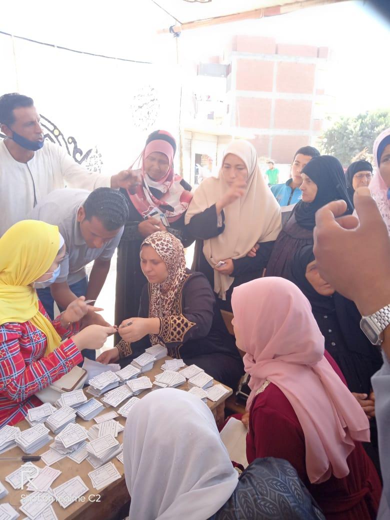 طوابير للسيدات بلجان الانتخابات بالبحيرة (8)