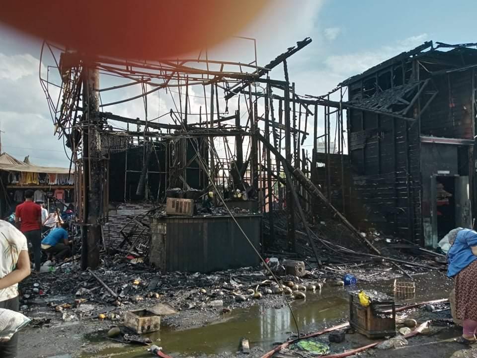 حريق فى سوق محطة مصر بالإسكندرية (3)