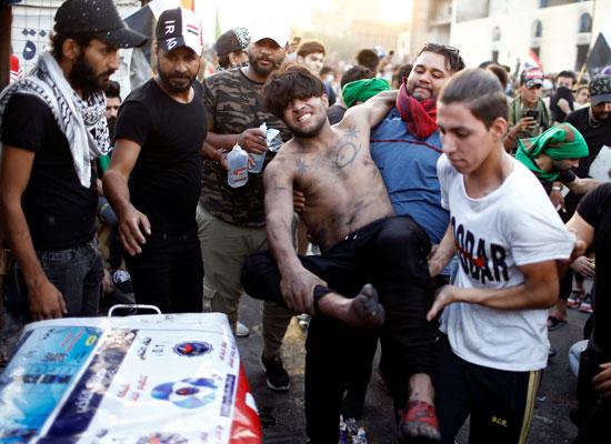 اندلاع مظاهرات جديدة وأعمال عنف بالعراق (5)
