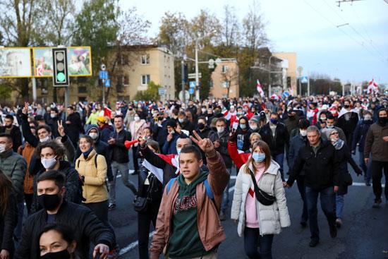 مظاهرات المعارضة فى بيلاروسيا (1)