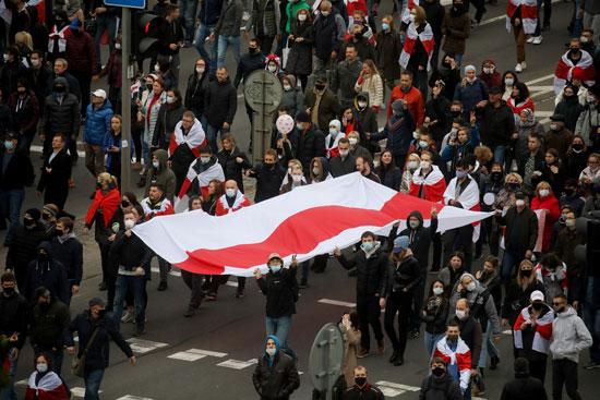 مظاهرات المعارضة فى بيلاروسيا (4)