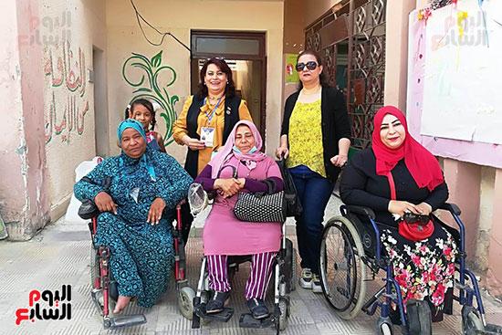 ذوى الإعاقة يؤكدون دورهم في هذا الاستحقاق