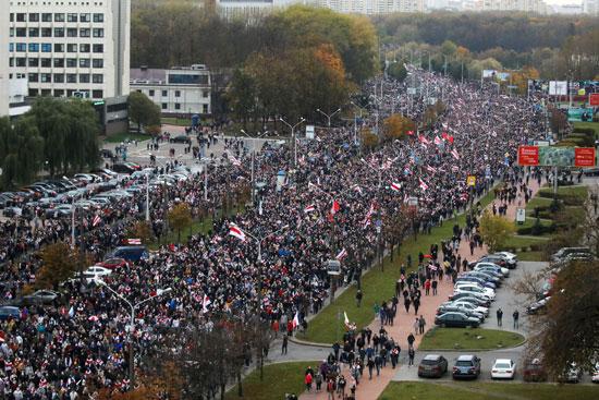 مظاهرات المعارضة فى بيلاروسيا (5)