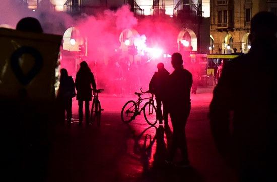 جانب من مظاهرات ايطاليا