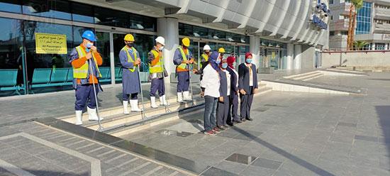 تدريب العاملين بمطار القاهرة على سيناريوهات الطوارئ استعدادا لفصل الشتاء (3)