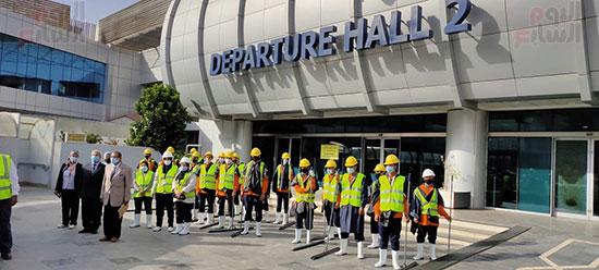 تدريب العاملين بمطار القاهرة على سيناريوهات الطوارئ استعدادا لفصل الشتاء (2)