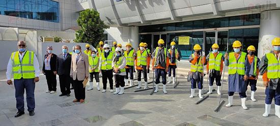 تدريب العاملين بمطار القاهرة على سيناريوهات الطوارئ استعدادا لفصل الشتاء (1)