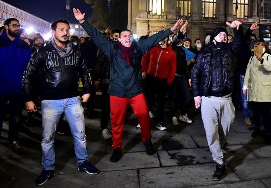 مظاهرات ايطاليا