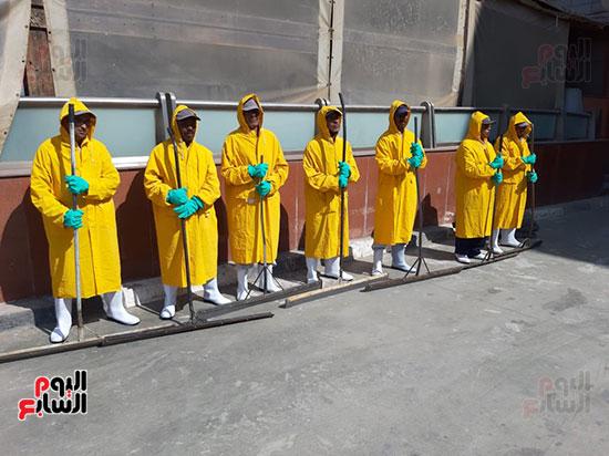 تدريب العاملين بمطار القاهرة على سيناريوهات الطوارئ استعدادا لفصل الشتاء (4)