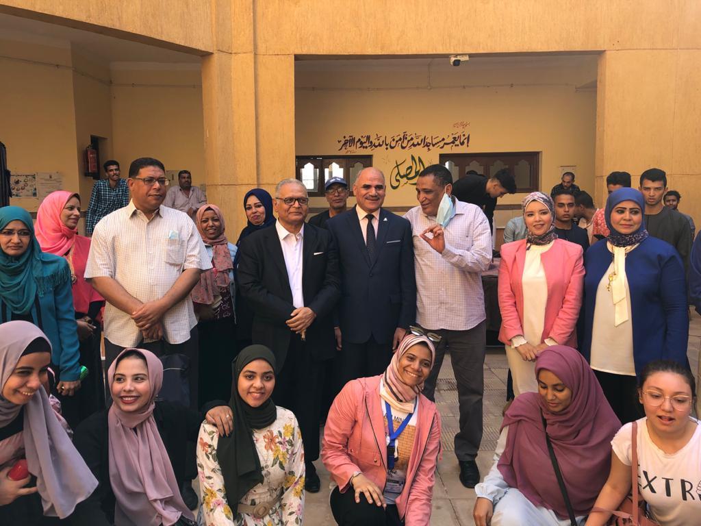 رئيس جامعة الأقصر يشهد حفل إستقبال الطلاب الجدد بكلية الآثار (1)