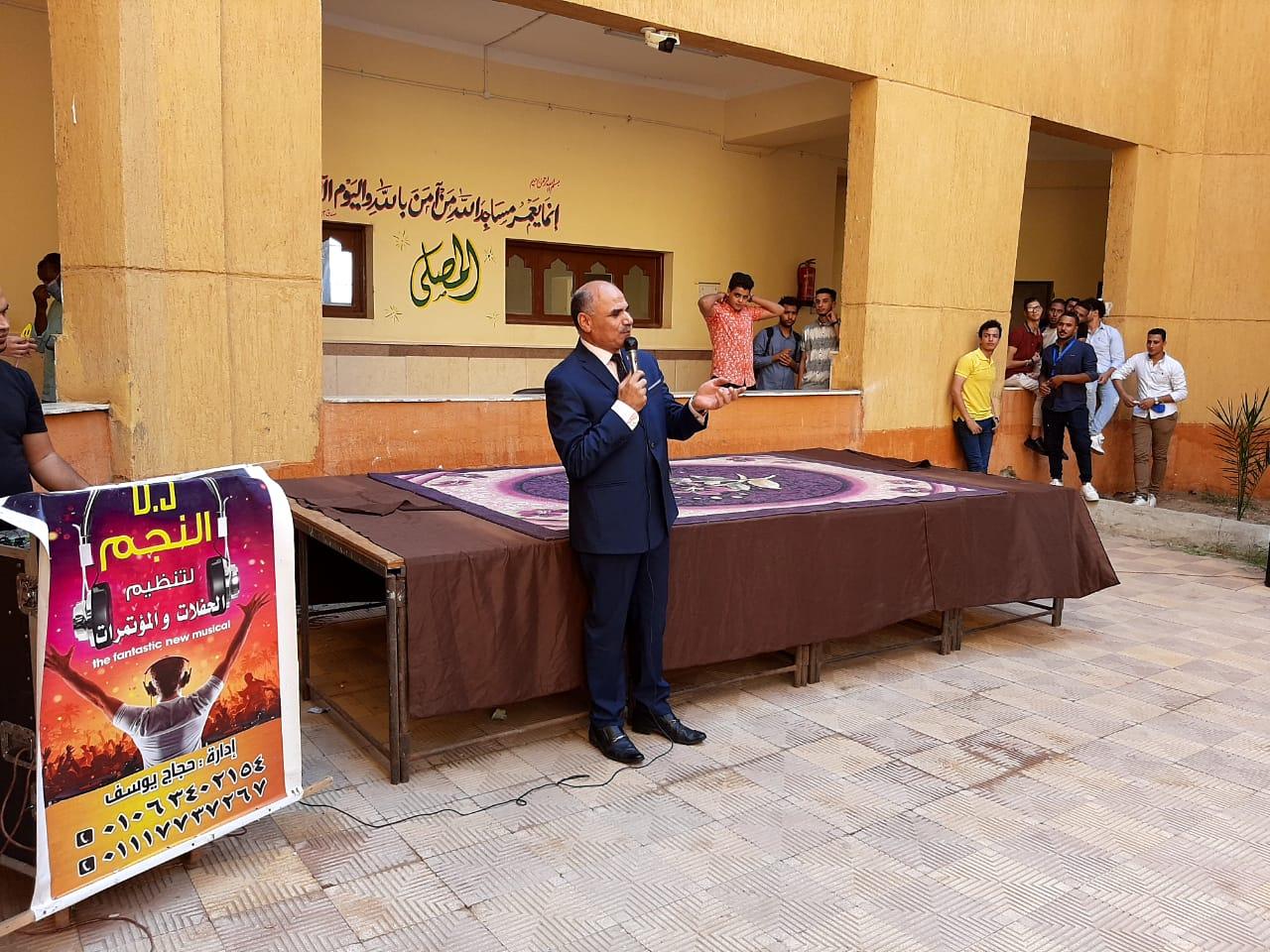 رئيس جامعة الأقصر يشهد حفل إستقبال الطلاب الجدد بكلية الآثار (4)