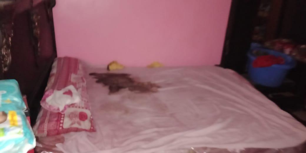السرير الذى شهد وفاة الطفل