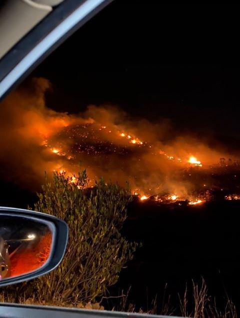 اندلاع حريق هائل في أبها السعودية