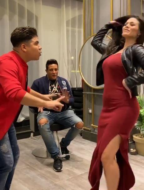 الراقصة البرازيلية لورديانة مع حمو بيكا وعمر كمال