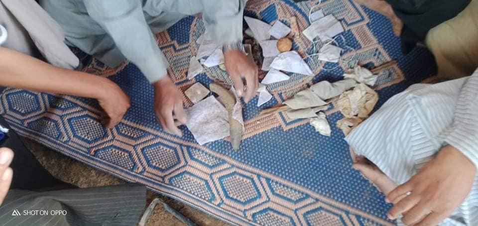 أعمال سحرية بمقابر قرى الأقصر (4)