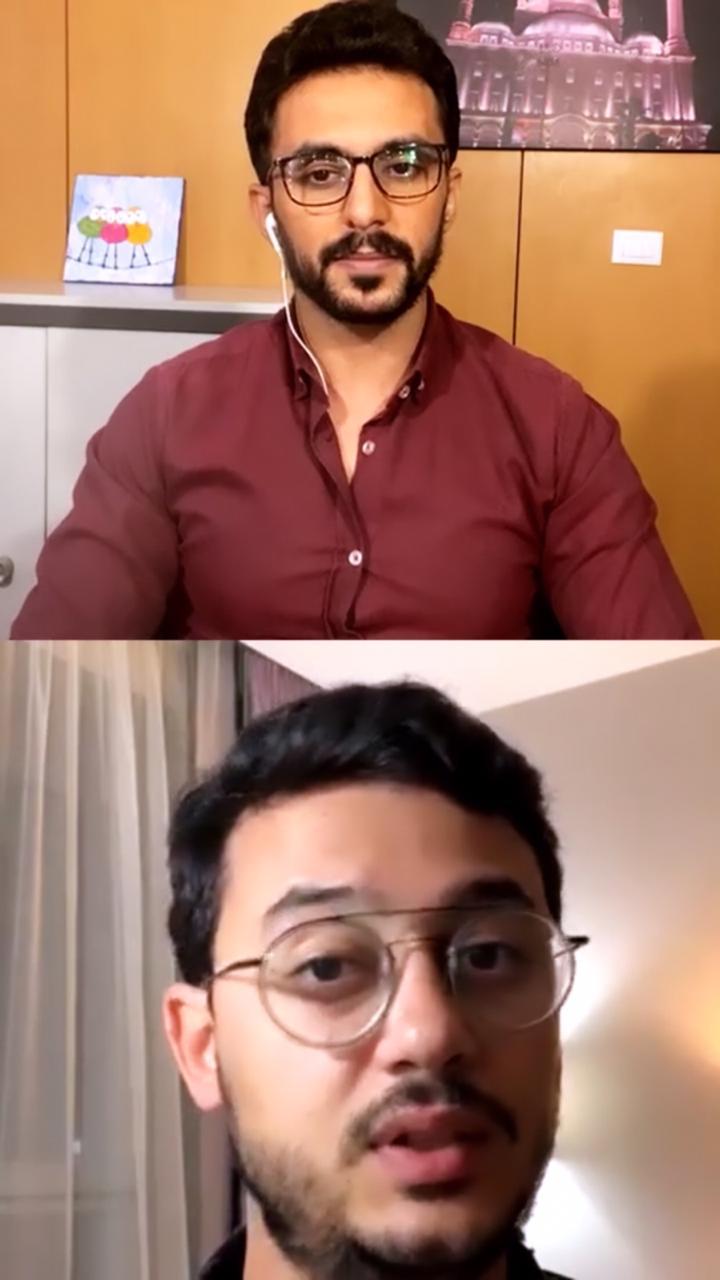 المنشد مصطفى عاطف والزميل محمد أسعد (3)