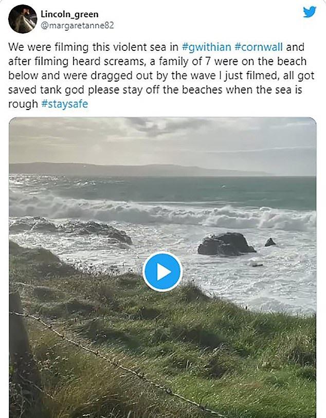بريطاني ينقذ أسرة 6 أفراد من الغرق (2)