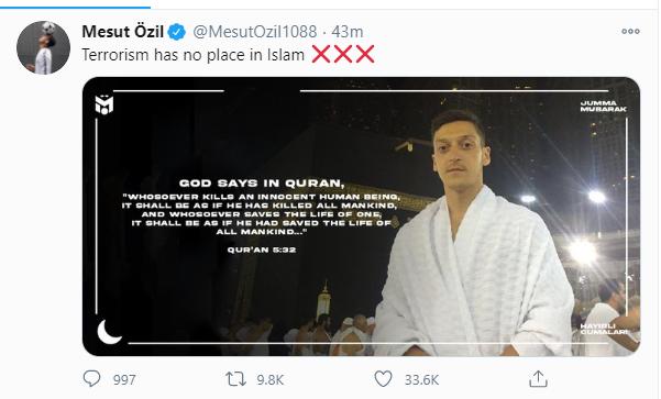 تغريدة أوزيل
