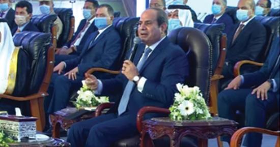 السيسى خلال افتتاح جامعة الملك سلمان